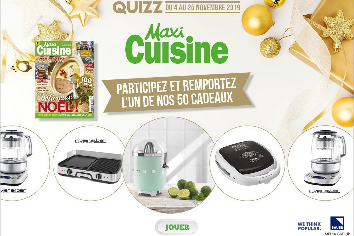 grand jeu concours maxi cuisine